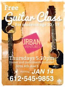 Free Urban Ventures Guitar Class Spring 2016